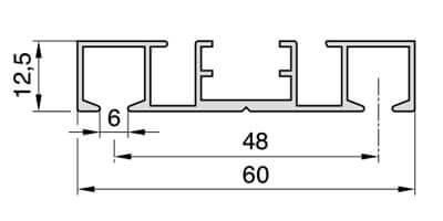 Super 2 läufige Gardinenschiene zum Aufschrauben Modell 883 NR12